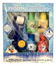 1X Disney Frozen 7 Piece Bath Fingerpaint Play Set: Gift Set Blue Palette + Red