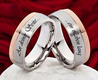 Eheringe Verlobungsringe Trauringe Partnerringe aus Edelstahl Lasergravur H141