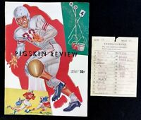 Vintage 1957 USC Trojans Pittsburgh Panthers Football Pigskin Review Spirit Card