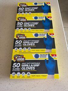 Grease Monkey Nitrile Disposible Gloves 50 Gloves Size Large Lot Of 4 200 Gloves
