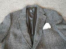 Harris Tweed By Gant,Herringbone Sport Coat Gray/Black,40 Short