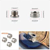 4 Pcs Oxygen Sensor Stepped Mounting Boss & Plug M18X1.5 Silver