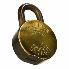 EP HURD Padlock 220 Brass Vintage Old Oval Lock (no key)