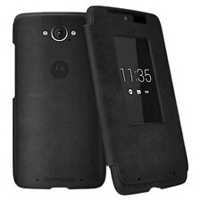 Motorola Flip Leather Smart Folio Case for Moto DROID Turbo Ballistic Nylon/Gray