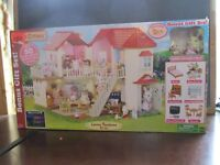 Calico critters luxury Town home gift set 50 furniture pcs 2 poseable figures