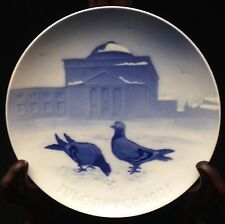 1921 Bing & Grondahl Christmas Plate - Pigeons in the Castle Court