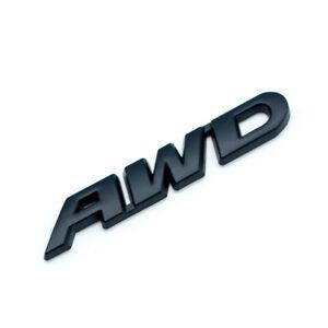 Metal Black AWD Letters Car Emblem Auto SUV Door Trunk Badge Sticker Accessories