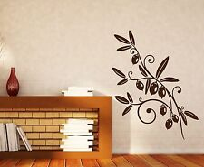 Wall Sticker Olive Branch Mature Fruit Foliage Vinyl Decal (n464)