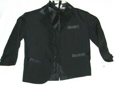 Boys' 3-Piece Tuxedo Set w/ Vest, Bow Tie, Jacket, Size 3 Color Black