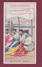 Chromo 030115 - CHOCOLAT D'AIGUEBELLE couture point piqué - marine militaria