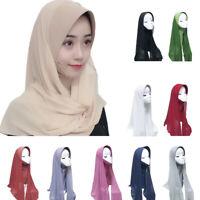 Muslim Women Hijab Turban Arab Head Scarf Cover Shawl Wrap Prayer Scarves Amira