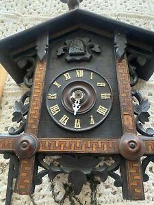 ANTIQUE CUCKOO CLOCK FOR PARTS 1898