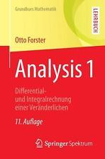 Analysis 1 von Otto Forster (2011, Taschenbuch)