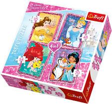 Puzzle Disney Prinzessinnen 4 in 1 - 207 Teile 35/48/54/70 - Legespiel (437-35)