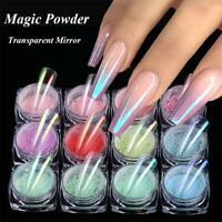 Glitter Holographic Mirror Nail Powder Ultra-thin Aurora Mermaid Chrome Pigment
