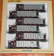 WALTHERS 932-7828 GOLD LINE RD 4 COAL HOPPER 6-PACK BNSF
