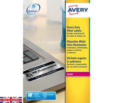 Avery Heavy Duty Silver Labels Pack of 3780