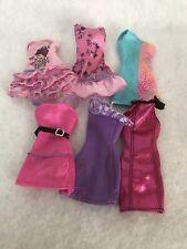 Barbie Fashionista Doll Clothing Dresses Lot Metallic Pink Blue Ruffle