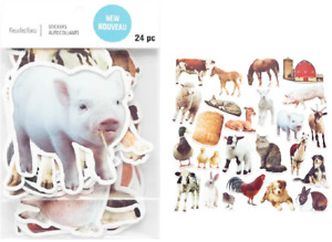 Recollections BARNYARD ANIMALS Die Cut Stickers COW HORSE PIG GOAT ROOSTER SHEEP