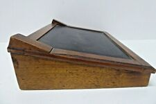ANTIQUE WOODEN SCHOOL WRITING SLOPE SLATE DESK BY SHEPHERD NEW YORK 1877