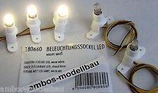 Faller 180660 Häuserbeleuchtung, Beleuchtungssockel 5 Stück, LED, Licht warmweiß