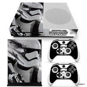 Xbox One S Console Skin Decal Sticker Star Wars StormTrooper Custom Design Set