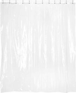 """CLEAR VINYL SHOWER CURTAIN LINER - EXTRA LONG - 72 Wide x 84 Long - (72"""" x 84"""")"""