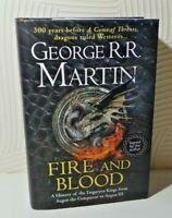 FIRE AND BLOOD GEORGE R R MARTIN UK HARDBACK SIGNED ILLUSTRATED