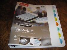 Wilson Jones View-Tab Presentation Binder w 8 colored tabs – White