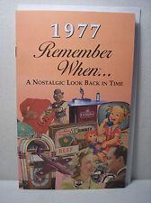 41st Birthday / Anniversary - 1977 Remember When Nostalgic Book Card  - NEW