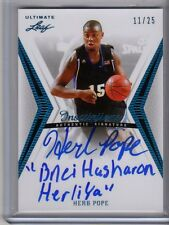 2012-13 Leaf Ultimate (# BA-HP1) Herb Pope Inscriptions Auto #d 11/25