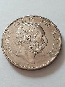 5 Mark, Deutsches Reich, Albert König von Sachsen, 1900, 900er Silber