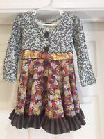 Matilda Jane Toddler Girl's L/S You & Me Bridgette Dress Size 2