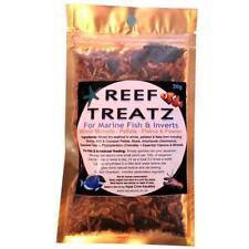 REEF TREATS -marine fish & invert food 30g shrimp seaweed vitamins pellets flake