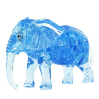 3D Crystal Puzzle Jigsaw DIY Elephant Model Blocks Gadget Blocks Building Toy