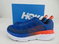 Hoka One One Bondi 6 Blue Orange Running Athletic Shoes Mens Size 11, NEW W/ Box