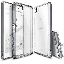 Cubierta de la vivienda Ringke Fusion casas vidrio templado para Sony Xperia Z5 Humo-negro (ahumado)