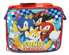Licensed Sega Sonic the Hedgehog Canvas Insulated Blue Lunch Bag