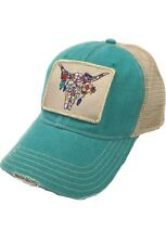 Judith March Steer Head Hat - Jade f268d1ed4ad6