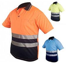 POLO Haute visibilité sécurité ORANGE FLUO PERSONNALISABLE Taille XL