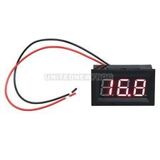 UN3F 0.56inch LCD DC 3.2-30V Red LED Panel Meter Digital Voltmeter with Two-wire