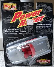 MAISTO POWER RACER MOTORIZED PULL BACK SILVER CORVETTE CONVERTIBLE *NEW IN PKG!*