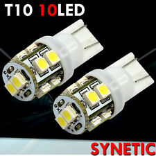 2X White T10/194/921/168 SMD 10-LED License Plate Light Bulbs