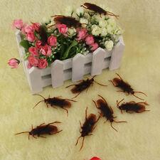 8x Halloween Fake Plastic Cockroaches Rubber Toy Joke Decoration Prop Realistic