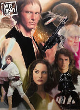 Star Wars -Hand signed OIL PAINTING canvas pop ART a new hope return of the jedi