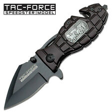 """TAC FORCE   Special Forces """" Rescue Style Grenade Handle  Assist Knife FOLDER"""