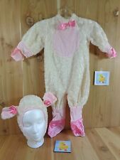 PINK LAMB Costume Size 12-18 Mo Bodysuit and Hat with Ears White Rubie's
