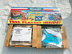 Micro Machines Military Battle Zones 2 Pack Barracuda Bay/Dogfight Airbase B739