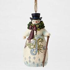 Jim Shore Heartwood Creek Victorian Snowman w/ Wreath Hanging Ornament 4053685