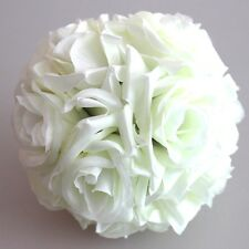 décoration de mariage boule de baiser 15cm fleur de crème fleurs artificielles